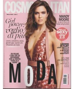 Cosmopolitan - mensile n. 3 Marzo 2018 Mandy Moorela star di This Is Us