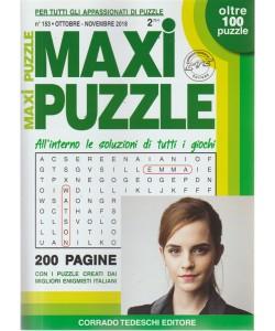 Maxi Puzzle - n. 153 - ottobre - novembre 2018 - bimestrale - 200 pagine - oltre 100 puzzle