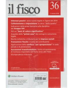 Il Fisco - n. 36 - 1° ottobre 2018 - settimanale