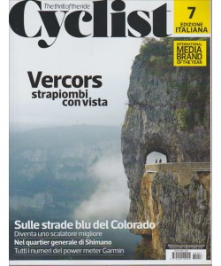 CYCLIST. N. 7. OTTOBRE 2016. MENSILE. EDIZIONE ITALIANA.