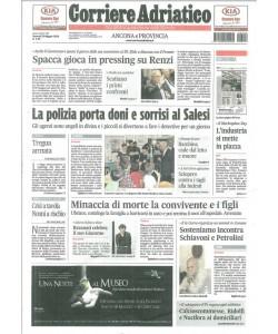 CORRIERE ADRIATICO Edizione Ancona - Venerdì 22 Maggio 2015