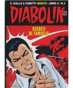 Diabolik Anno 51 - N° 3 - Segreti Di Famiglia - Diabolik 2012 Astorina Srl