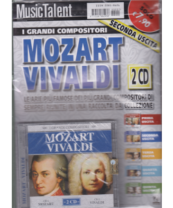 Music Talent  - I grandi compositori - Mozart Vivaldi - rivista + 2 cd - seconda uscita -