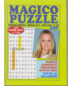 Magico Puzzle - n. 296 - mensile - gennaio 2019 - 100 pagine