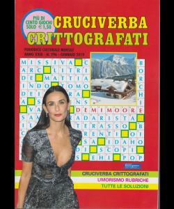 Cruciverba crittografati - n. 296 - mensile - gennaio 2019 - più di 100 giochi