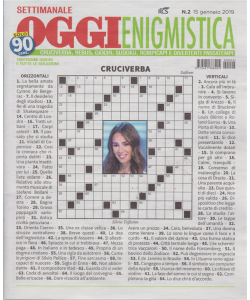 Settimanale Oggi Enigmistica - n. 2 - 15 gennaio 2019 -
