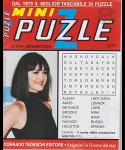 Minipuzzle - n. 519 - gennaio 2019 - mensile