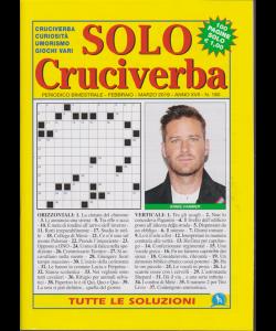 Solo Cruciverba - n.180 - bimestrale - febbraio - marzo 2019 - 100 pagine
