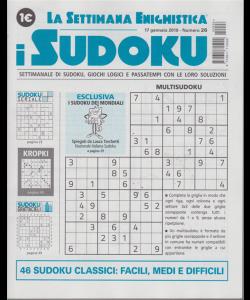 La settimana enigmistica - i sudoku - n. 26 - 17 gennaio 2019 - settimanale