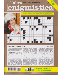 L'altra Enigmistica - n. 471 - mensile - gennaio 2019 -
