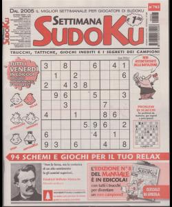 Settimana sudoku - n. 703 - settimanale - 1 febbraio 2019