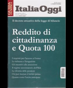 Guida giuridica - Italia oggi - Reddito di cittadinanza e Quota 100 - n. 3 - 1 febbraio 2019 -