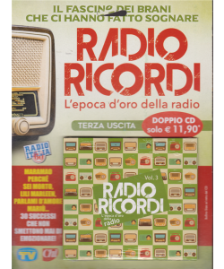 Radio Ricordi - terza uscita - doppio cd Sorrisi e canzoni - n. 9 - settimanale - 5/2/2019 - L'epoca d'oro della radio