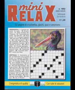 Mini Relax - n. 1952 - settimanale - 22/10/2019