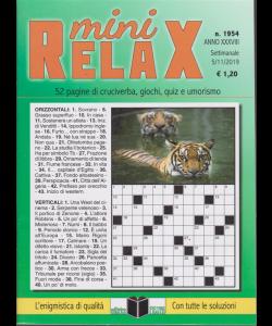 Mini Relax - n. 1954 - settimanale - 5/11/2019 - 52 pagine di cruciverba, giochi, quiz e umorismo