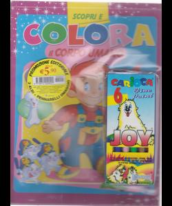 Scopri e colora - bimestrale - n. 1 - marzo 2019 - 3 albi + 6 pennarelli Carioca in omaggio -