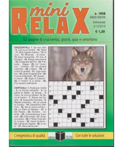 Mini Relax - n. 1958 - settimanale - 3/12/2019 -