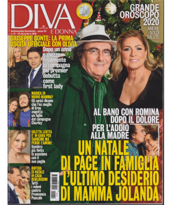 Diva e donna - n. 51 - settimanale feminile - 24 dicembre 2019 -