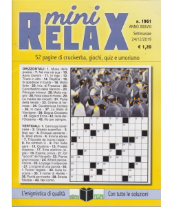 Mini Relax - n. 1961 - settimanale - 24/12/2019 -