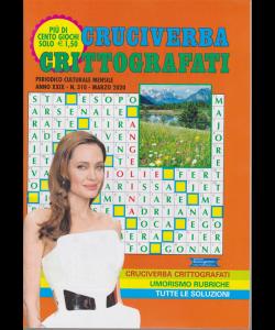 Cruciverba crittografati - n. 310 - mensile - marzo 2020 - Più di cento giochi