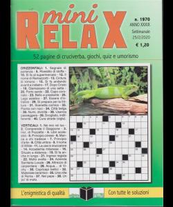 Mini relax - n. 1970 - settimanale - 25/2/2020 -