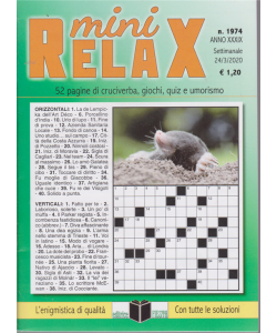 Mini Relax - n. 1974 - settimanale - 24/3/2020 -