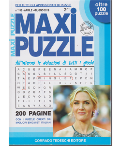 Maxi Puzzle - n. 155 - aprile - giugno 2019 - trimestrale - oltre 100 puzzle - 200 pagine