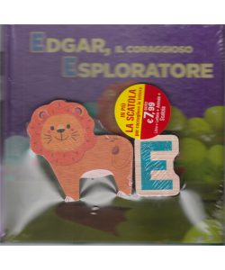 Impara con le lettere e gli animali - Edgar, il coraggioso esploratore - n. 5 - 4/7/2020 - settimanale - copertina rigida