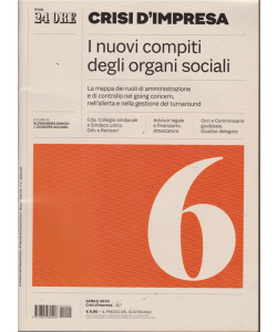 Crisi d'impresa - I nuovi compiti degli organi sociali - n. 2 - mensile - aprile 2019