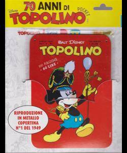 Disney 70 Anni Topolino - Prima uscita - Una collezione esclusiva delle copertine cult di Topolino - n. 1 del 1949 riproduzione in metallo - settimanale - 10/4/2019