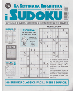 La settimana enigmistica - i sudoku - n. 38 - 11 aprile 2019 -