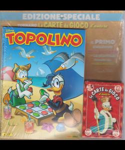 Topolino + il mazzo di carte da gioco d'autore - n. 3377 - settimanale - 12 agosto 2020