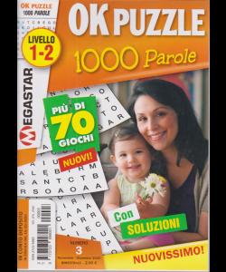 Ok Puzzle 1000 Parole - n. 3 - Livello 1-2 - novembre - dicembre 2020 - bimestrale -