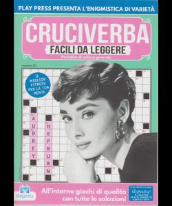 Cruciverba facili da leggere - n. 20 - bimestrale - 20/4/2019 - Audrey Hepburn