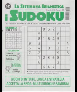 La settimana enigmistica - i sudoku - 25 aprile 2019 - n. 40 - settimanale