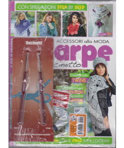 La Cruna Quaderni - Speciale sciarpe all'uncinetto - n. 46 - mensile + 1 uncinetto da 2 mm + 1 uncinetto da 2,7 mm