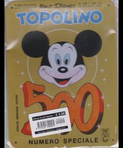 Disney 70 Anni Topolino - Topolino n. 500 - settimanale - 27 giugno 1965 - copertina in metallo - 1 maggio 2019 -