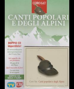Cd Sorrisi e Canzoni - n. 13 - Canti popolari e degli alpini - settimanale - maggio 2019 - doppio cd imperdibile!