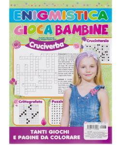 Enigmistica Gioca Bambine -n. 6 - bimestrale - maggio - giugno 2019 -