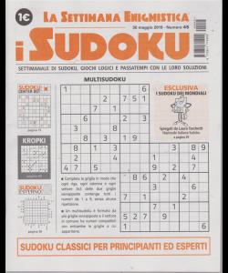 La settimana enigmistica - i sudoku - n. 45 - 30 maggio 2019 -