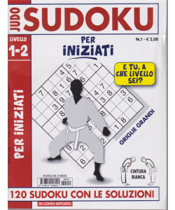 Judo Sudoku livello 1-2 - n. 1 - 31 maggio 2019 - Per iniziati