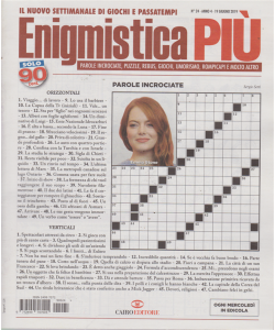Enigmistica Piu' - N. 24 - 19 Giugno 2019 - settimanale