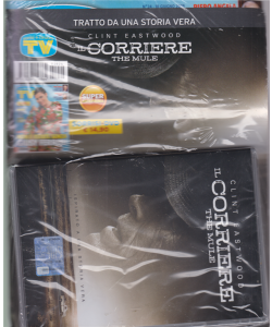 Sorrisi e canzoni tv + il dvd di Clint Eastwood Il corriere - the mule - Sorrisi + dvd