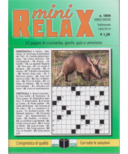 Mini Relax - n. 1934 - settimanale - 18/6/2019 -