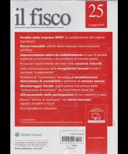 Il Fisco - n. 25 - 24 giugno 2019 - settimanale