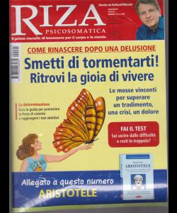 Riza Psicosomatica - n. 461 - mensile - luglio 2019 - rivista + il libro La filosofia per vivere bene - Aristotele
