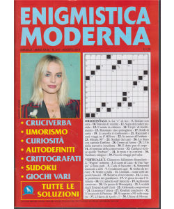 Enigmistica Moderna - n. 370 - mensile - agosto 2019 -