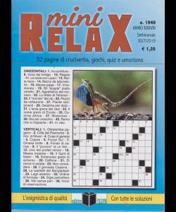 Mini Relax - N. 1940 - SETTIMANALE - 30/7/2019 -