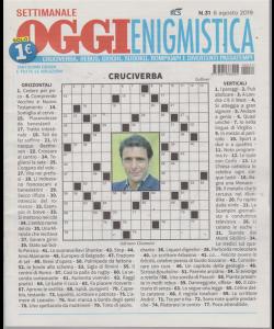 Settimanale Oggi Enigmistica - n. 31 - 6 agosto 2019 -