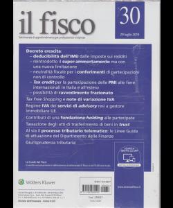 Il Fisco - n. 30 - 29 luglio 2019 - settimanale - 2 riviste